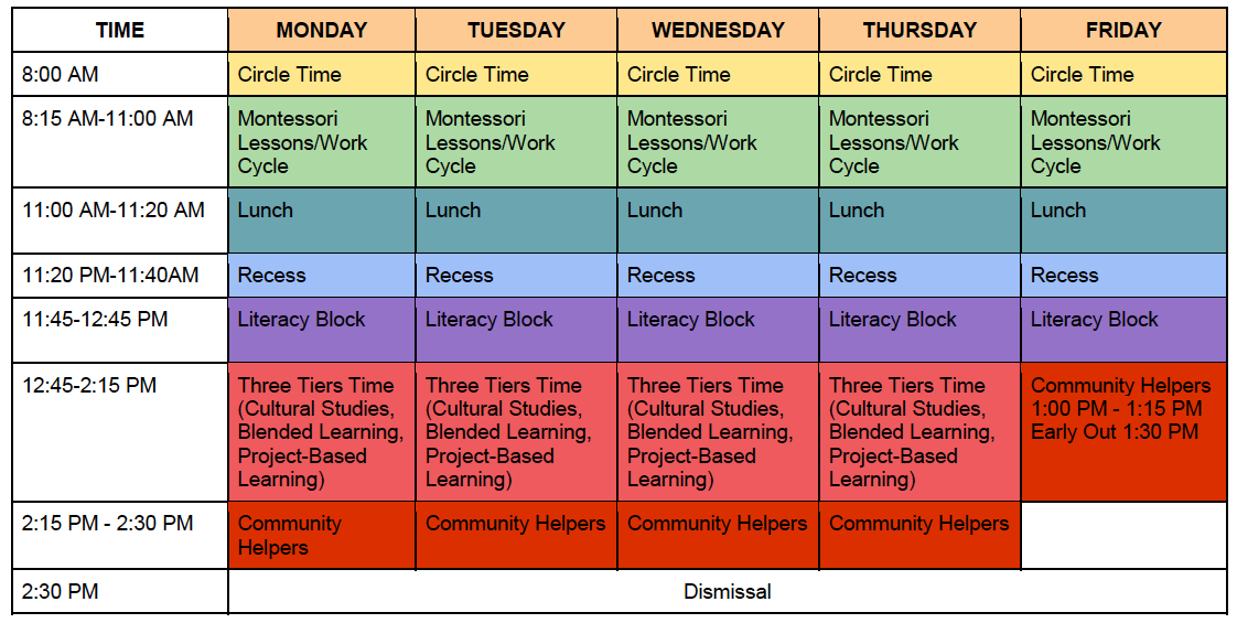 3rd_Daily sch LOWER ELEMENTARY DAILY SCHEDULE (1st -3rd Grades)