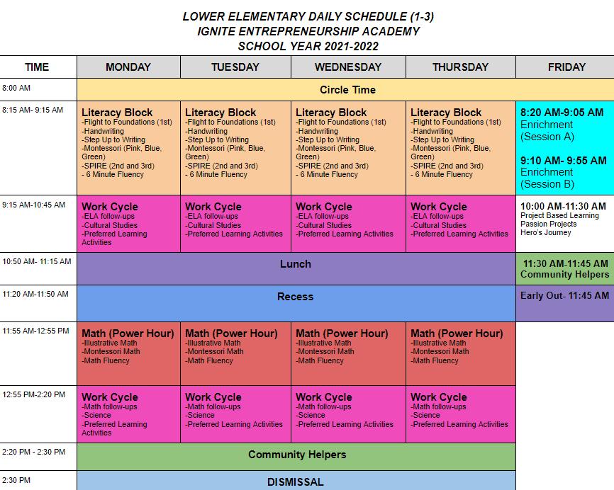 LE schedule (web version)