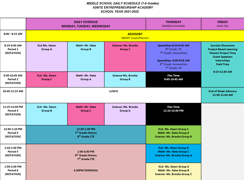 middle school program